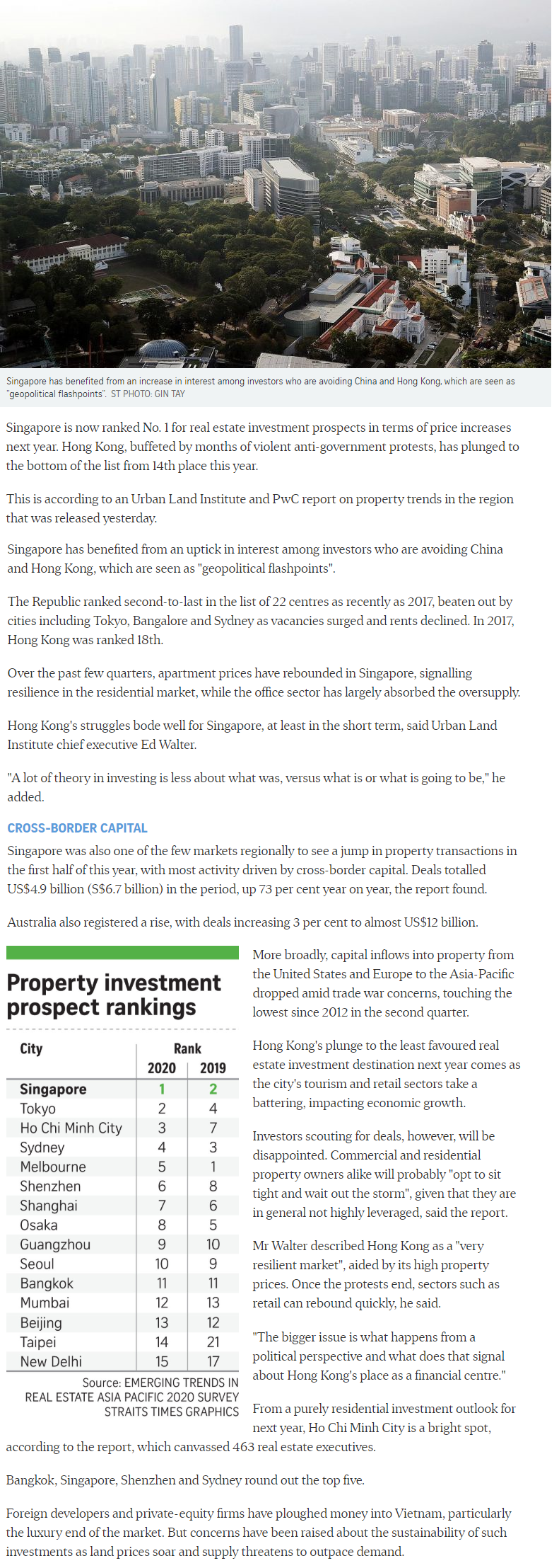 Irwell Hill Residences - Singapore Tops Region For Property Investment Prospects