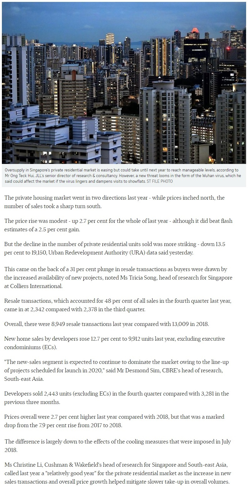 Irwell Hill Residences - Singapore private home prices inch up 2.7 for 2019 1