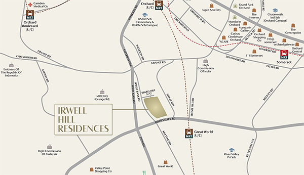 Irwell Hill Residences Location Map Thumbnail